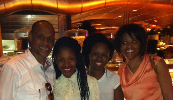 ABSTI Project Image Program Director  Darryl Auberry, Youth Development Coordinator Barbara Boliere and CEO Michelle Shirley. (Nicole in peach blouse) Taken at the Baltimore Harbor Cheesecake Factory, May 29, 2013. We avoided the tempting and delicious-looking 1,000 calorie+ cheesecakes!