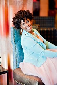 Paula in turquoise jacket