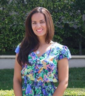 Ana Martinez in blue dress
