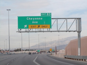 Exit ramp sign
