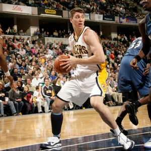 INDIANAPOLIS - NOVEMBER 6: Tyler Hansbrough #50 of the Indiana Pacers grabs a rebound against the Washington Wizards at Conseco Fieldhouse on November 6, 2009 in Indianapolis, Indiana.  NOTE TO USER: User expressly acknowledges and agrees that, by downloading and or using this Photograph, user is consenting to the terms and condition of the Getty Images License Agreement. Mandatory Copyright Notice: 2009 NBAE  (Photo by Ron Hoskins/NBAE via Getty Images)