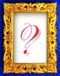 picture frame with question mark