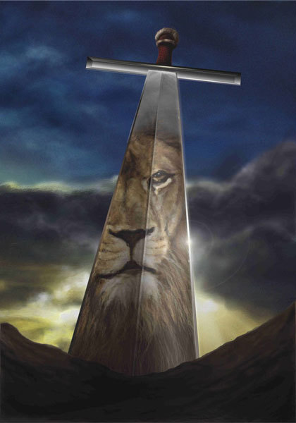 Matthew 10-34 lion and sword