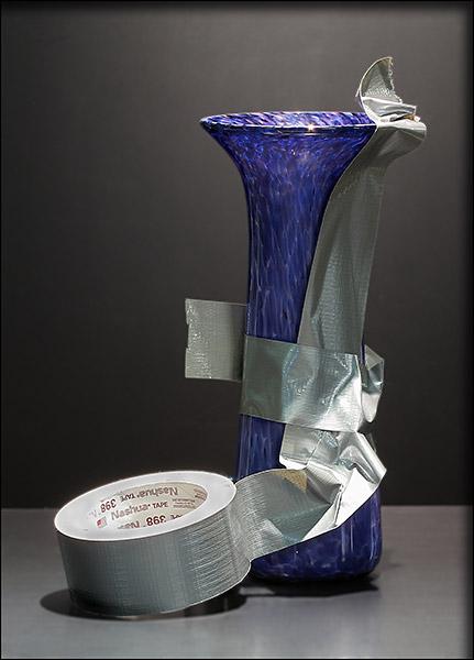 repairing-glass-vase-duct-tape-bernard-katz-glass