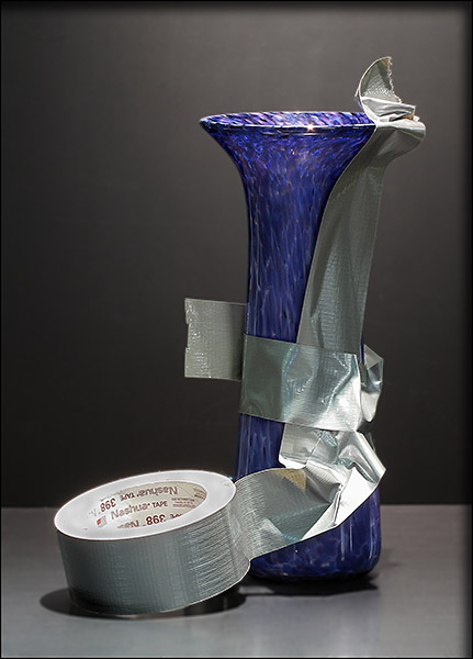 repairing-glass-vase-duct-tape-bernard-katz-glass